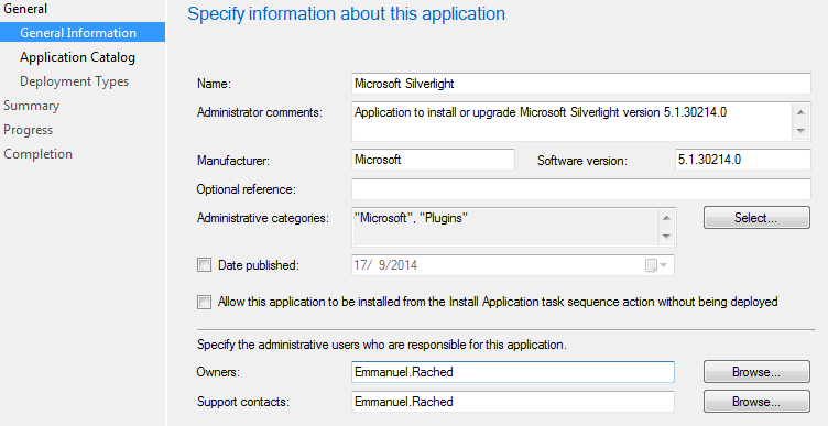 Silverlight Application - Deploy EXE with SCCM