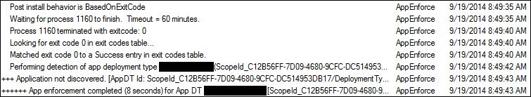SCCM Detection Failure - SCCM Detection Clauses Using Scripts