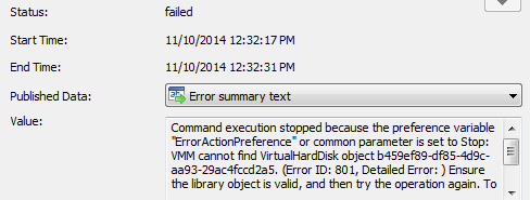 VMM Error 801 - Orchestrator Failed Create VM