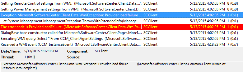 CCMSDKProvider Exception