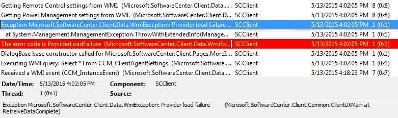CCMSDKProvider Exception
