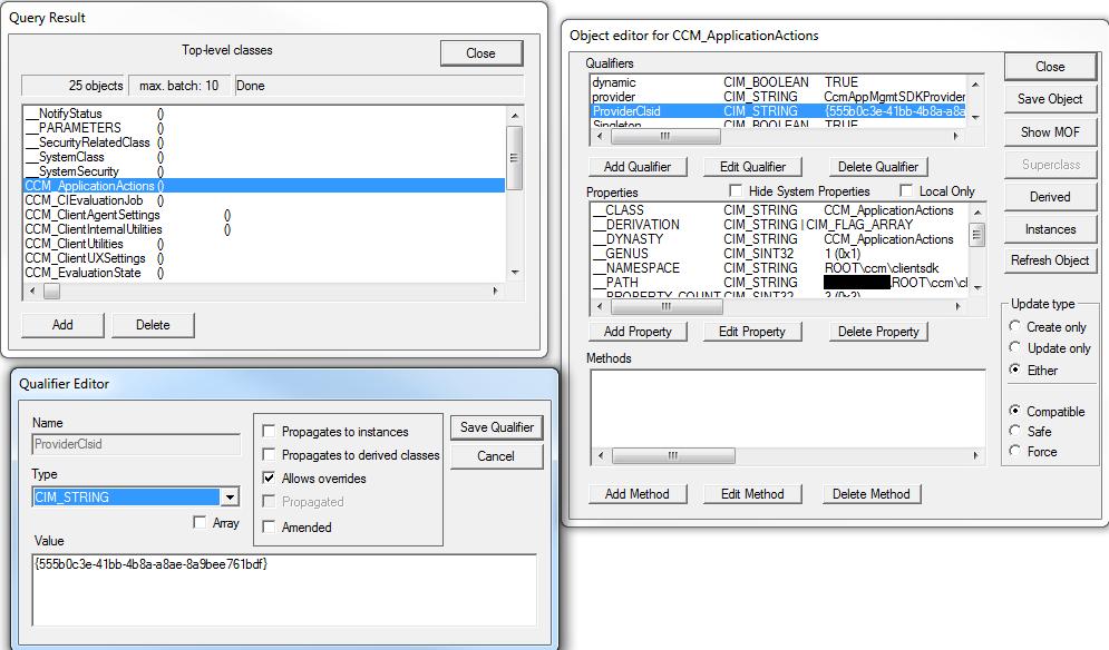 WBEMTest CCM SDK Error 0x80041013