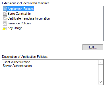 CA Template for Hyper-V Replica