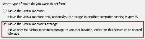 Move Hyper-V VM Storage