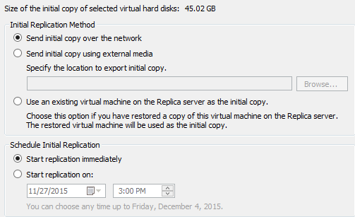 Initial Replication for Hyper-V Replica