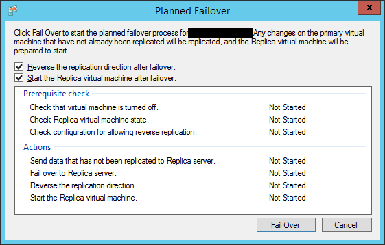 Planned Failover with Hyper-V Replica